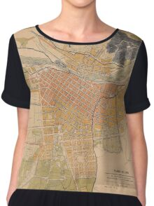 Map Of Lima 1904 Chiffon Top