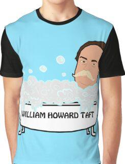William Howard Taft Tub (Blue Background) Graphic T-Shirt