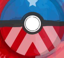 Marvel's Captain America - Pokeball - Abstract Sticker
