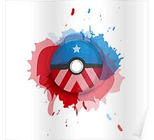 Marvel's Captain America - Pokeball - Abstract Poster