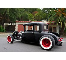 1930 Ford 'Fifties Style' Hot Rod Coupe Photographic Print