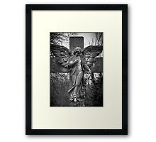 Angel on a Cross Framed Print