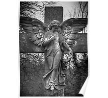 Angel on a Cross Poster
