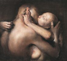 The kiss by Odd  Nerdrum