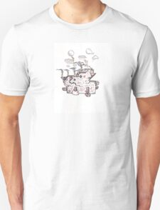 Abstract Alien Steampunk Plant T-Shirt