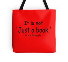 it is not just a book - red Tote Bag