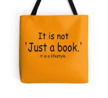 it is not just a book - orange Tote Bag
