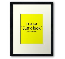 it is not just a book - yellow Framed Print