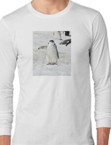 "Chinstrap Penguin  ~  ""Traffic Cop on Point Duty"" Long Sleeve T-Shirt"