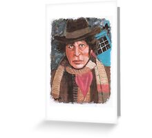 Tom Baker - 4th Doctor Who Greeting Card