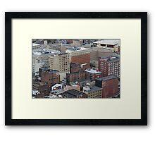 Cincinnati City Buldings Framed Print