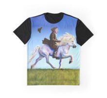 Alan Rickman Rides Again Graphic T-Shirt