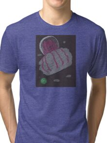 Giant Space Jellyfish 2 Oil & Pastels Tri-blend T-Shirt