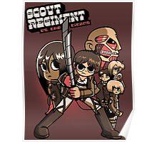 Scout Regiment Vs. The Titans Poster