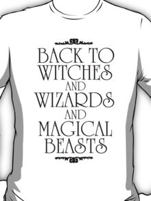 Back To Hogwarts T-Shirt