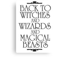 Back To Hogwarts Canvas Print