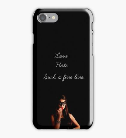 Love and hate. iPhone Case/Skin