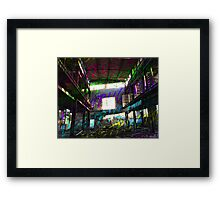 Destruction Design // Multicolor Framed Print
