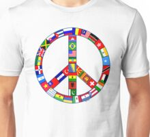 Peace Sign Of World Flags Unisex T-Shirt