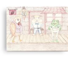Bird , Hamster , Frog  Canvas Print