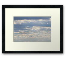 Sky and Clouds Framed Print