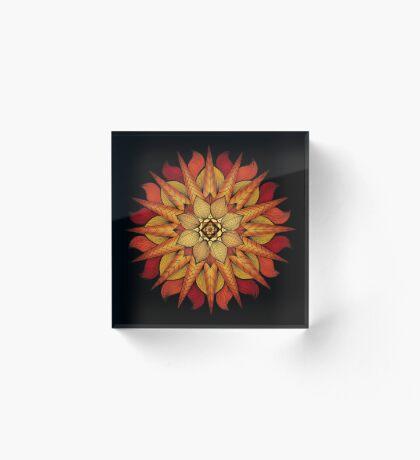 Fire Mandala Acrylic Block