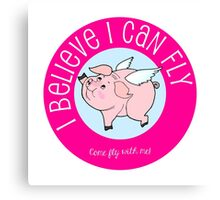 I Believe I Can Fly Flying Pig Canvas Print