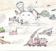 Gnome SteamPunk Caravan by SteveHanna