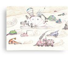 Gnome SteamPunk Caravan Canvas Print
