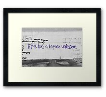 Hopeful Undertone Graffiti Framed Print