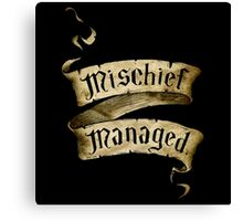 Mischief Managed Banner Canvas Print