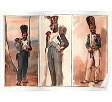 Old Guard Grenadiers by Louis de Montjoie  Poster