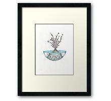 Abstract Alien Plant Framed Print