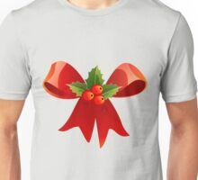 Christmas Ribbon Red Holly Green Decoration BerryChristmas Ribbon Red Holly Green Decoration Berry Unisex T-Shirt
