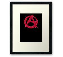 Anarchy anarchist punk symbol rebellion Framed Print