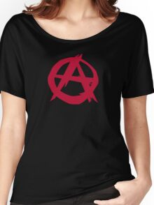 Anarchy anarchist punk symbol rebellion Women's Relaxed Fit T-Shirt