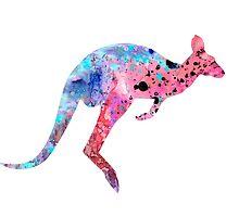 Kangaroo 2 by Watercolorsart