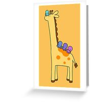 Giraffe with Octopi Greeting Card