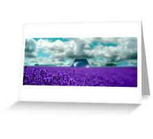 Utopia - Purple Landscape Greeting Card