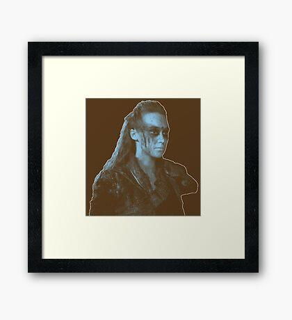 Lexa darkish Framed Print