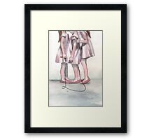 A Skipping Moment Framed Print