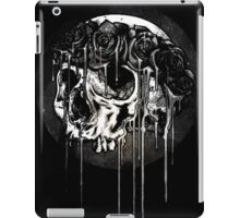 Black and White Flower Crown Skull iPad Case/Skin