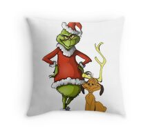 The Grinch and Max Throw Pillow