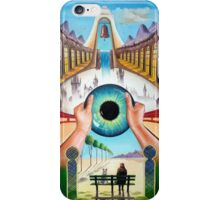 Behind empty eyes iPhone Case/Skin