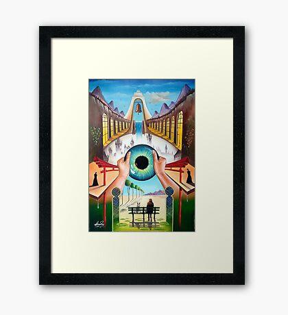 Behind empty eyes Framed Print