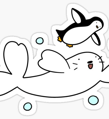 Harp Seal and Penguin Sticker