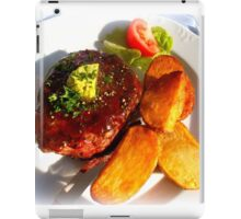 Ribeye steak with country potatoes iPad Case/Skin