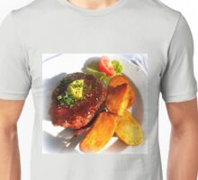 Ribeye steak with country potatoes Unisex T-Shirt