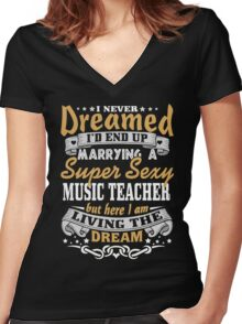 Music teacher T-shirt Women's Fitted V-Neck T-Shirt