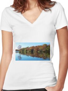 Fall In The Air Women's Fitted V-Neck T-Shirt
